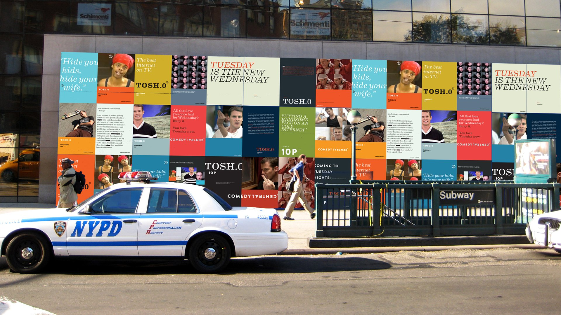 Comedy Central outdoor branding