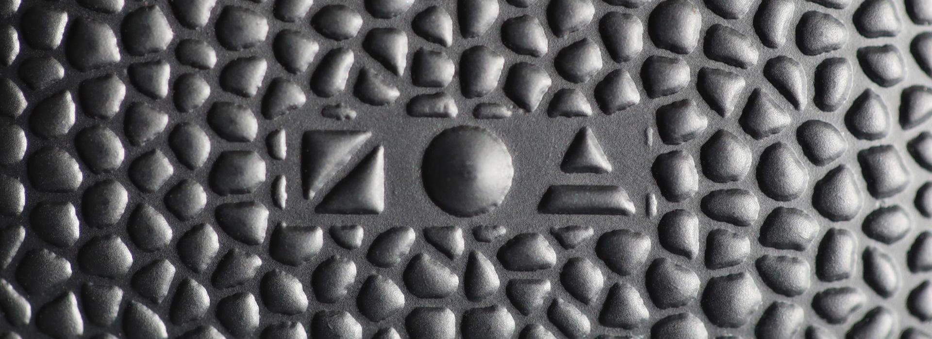 Zoa raised logo on Zoa material