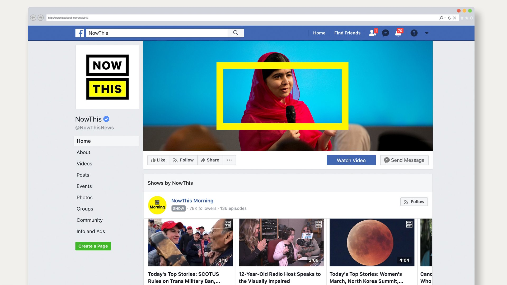 Now This logo Facebook cover page
