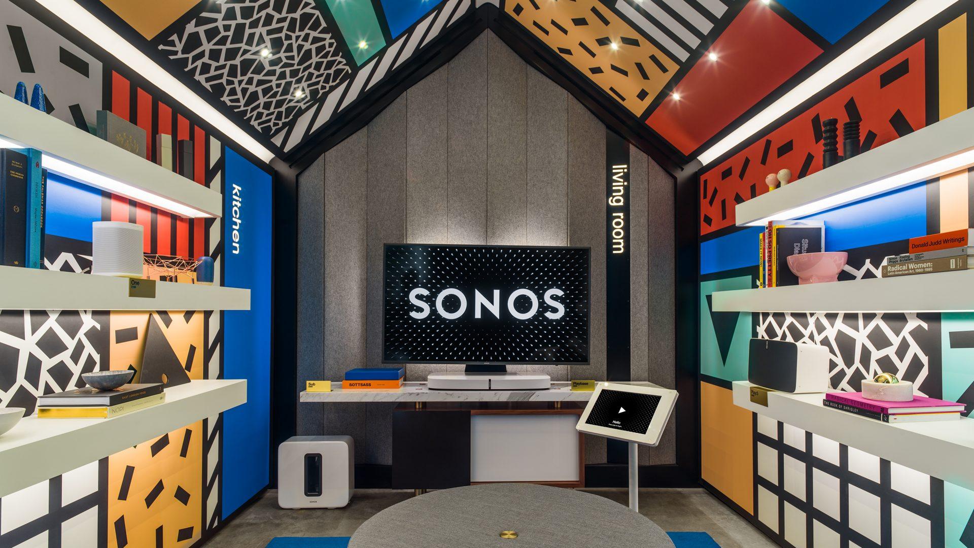 Sonos listening room Camille Walala