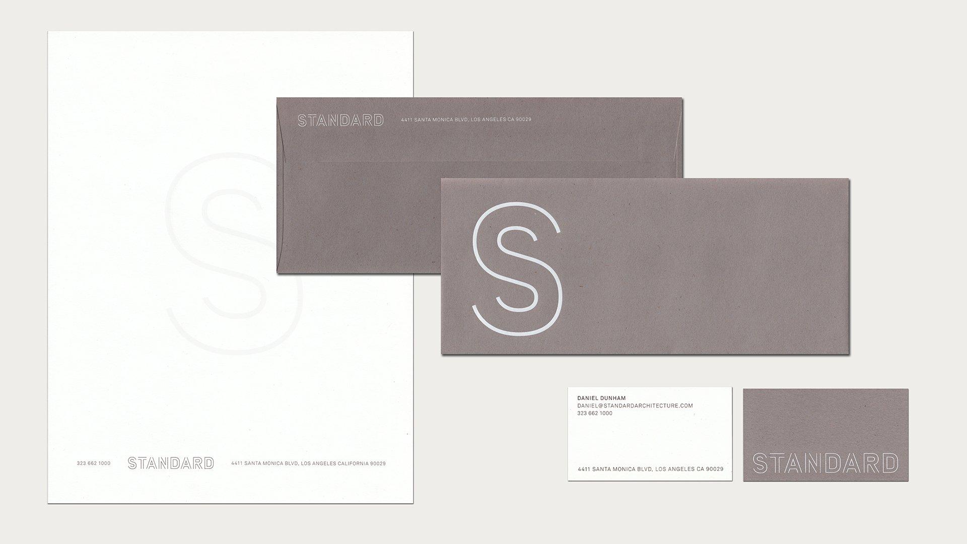 Standard Architecture letterhead branding