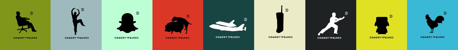 Comedy Central logo silouettes