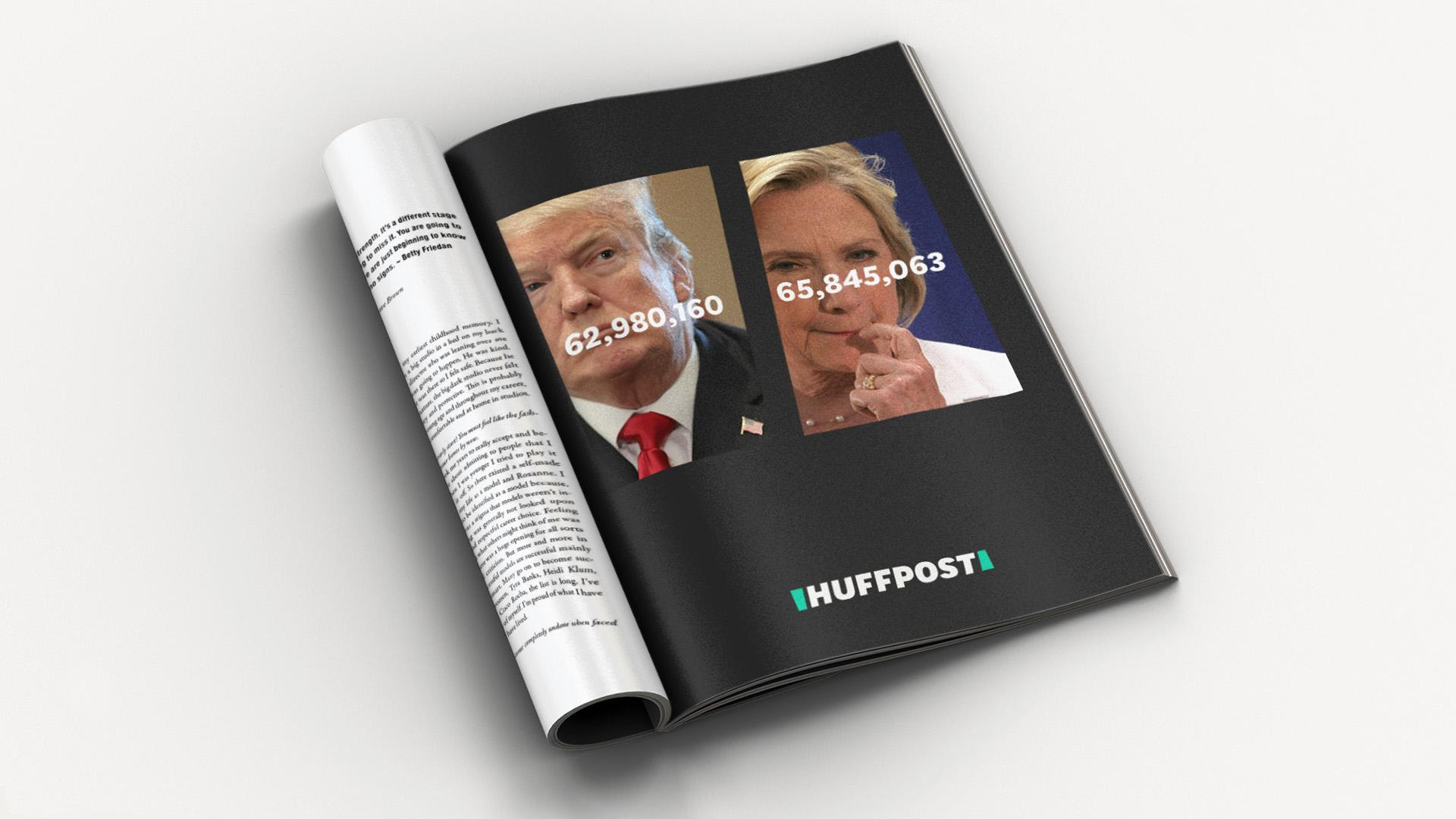 HuffPost logo election ad