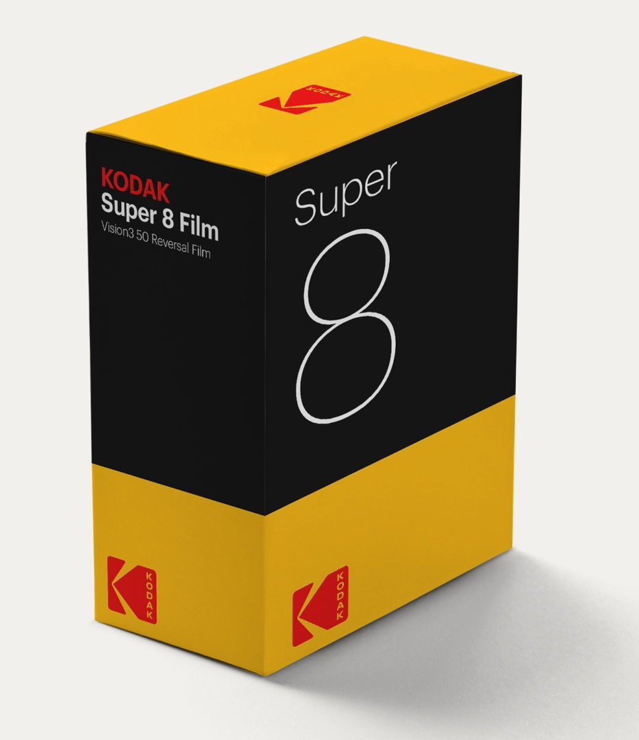 Kodak logo super 8 packaging