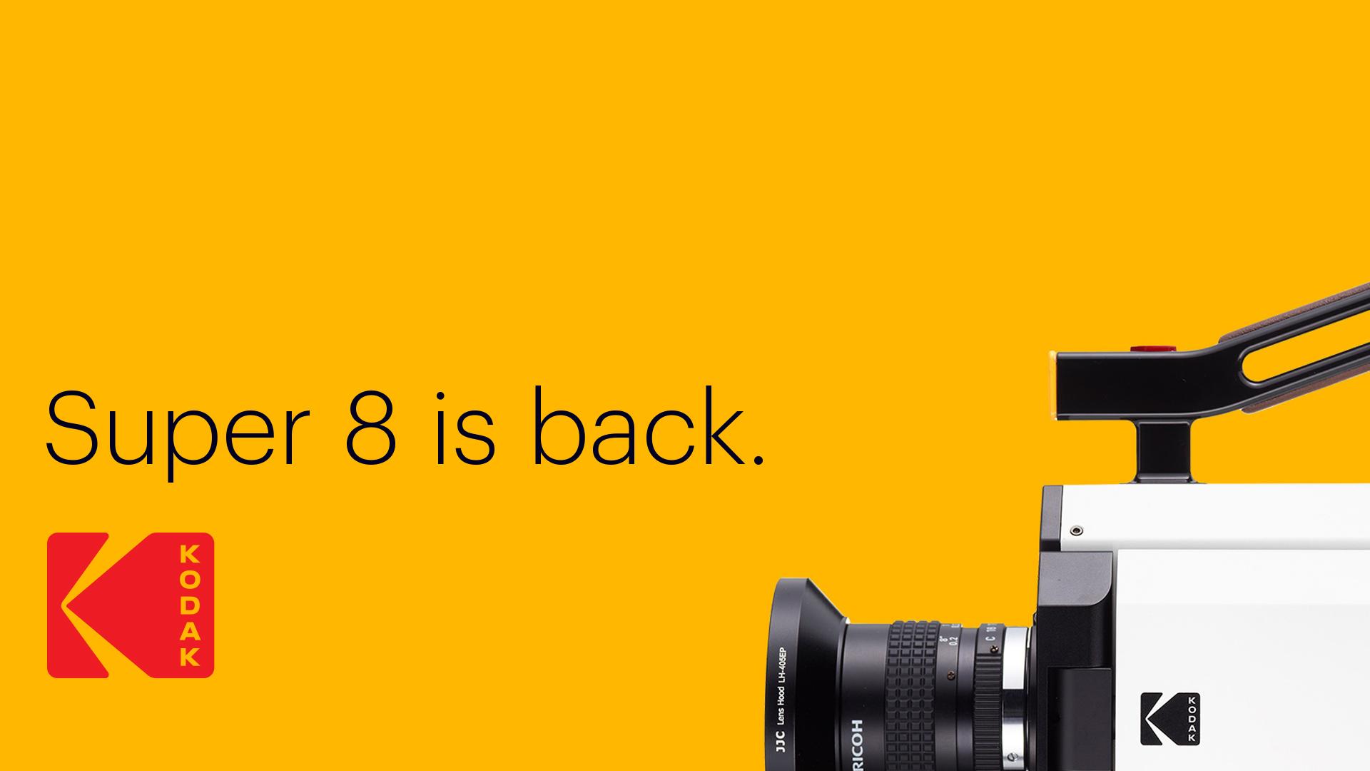 Kodak logo super 8 ad