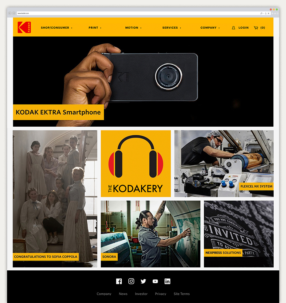 Kodak branding website