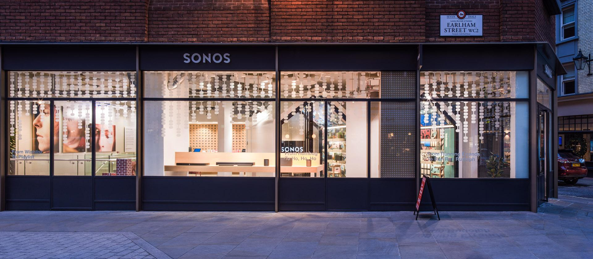 Sonos covent garden environmental design
