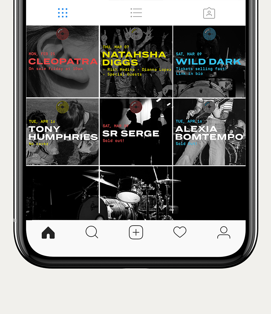 Chelsea Music Hall Instagram branding