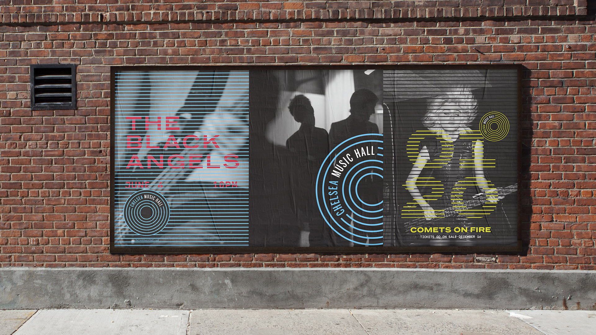 Chelsea Music Hall outdoor advertising