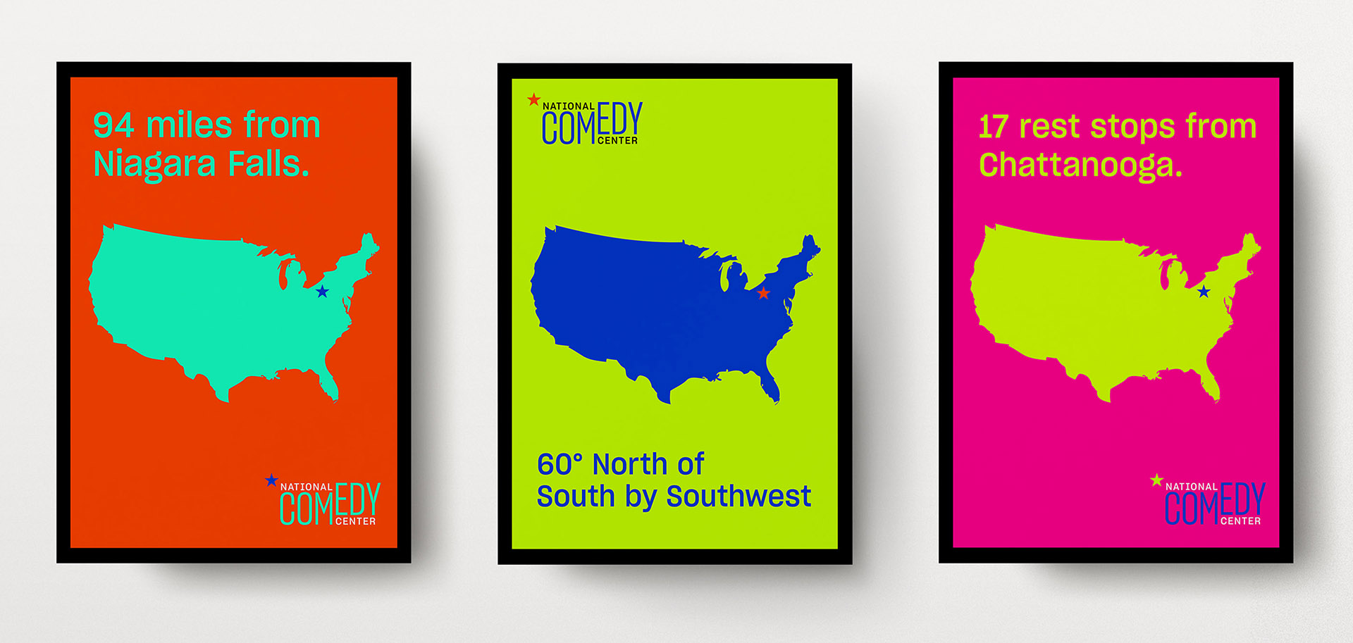 National Comedy Center campaign posters