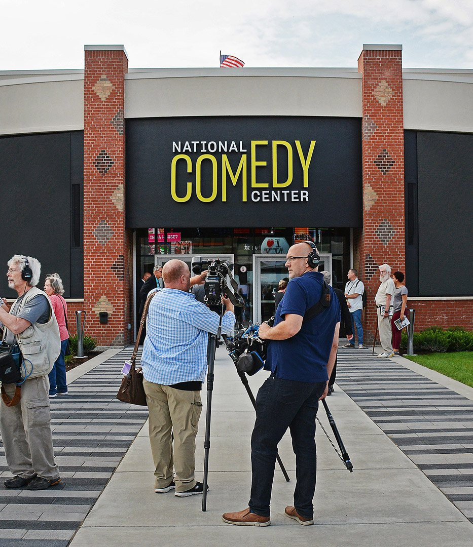 National Comedy Center outdoor signage