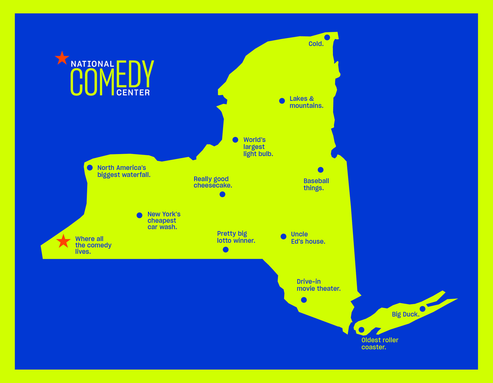 National Comedy Center campaign poster