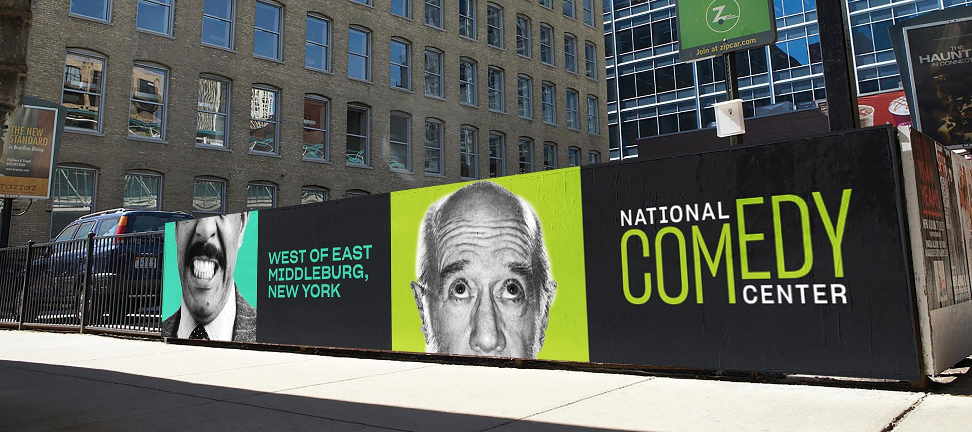 National Comedy Center outdoor campaign advertising
