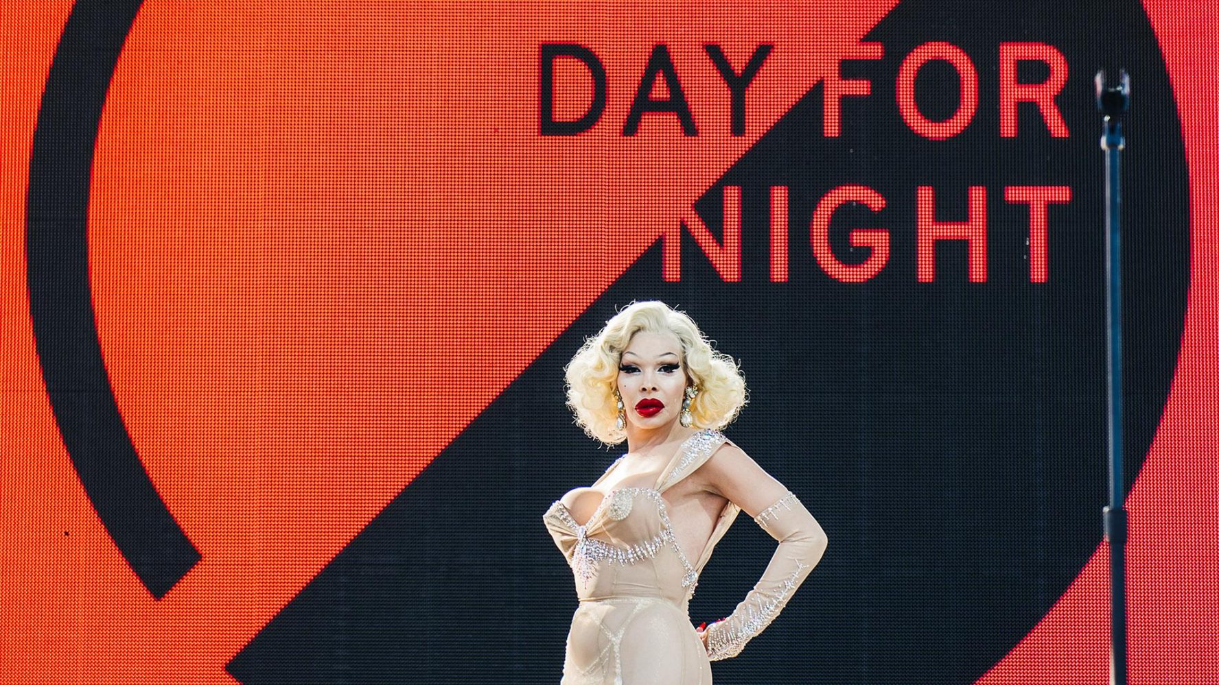 Day for Night Festival logo Amanda Lepore