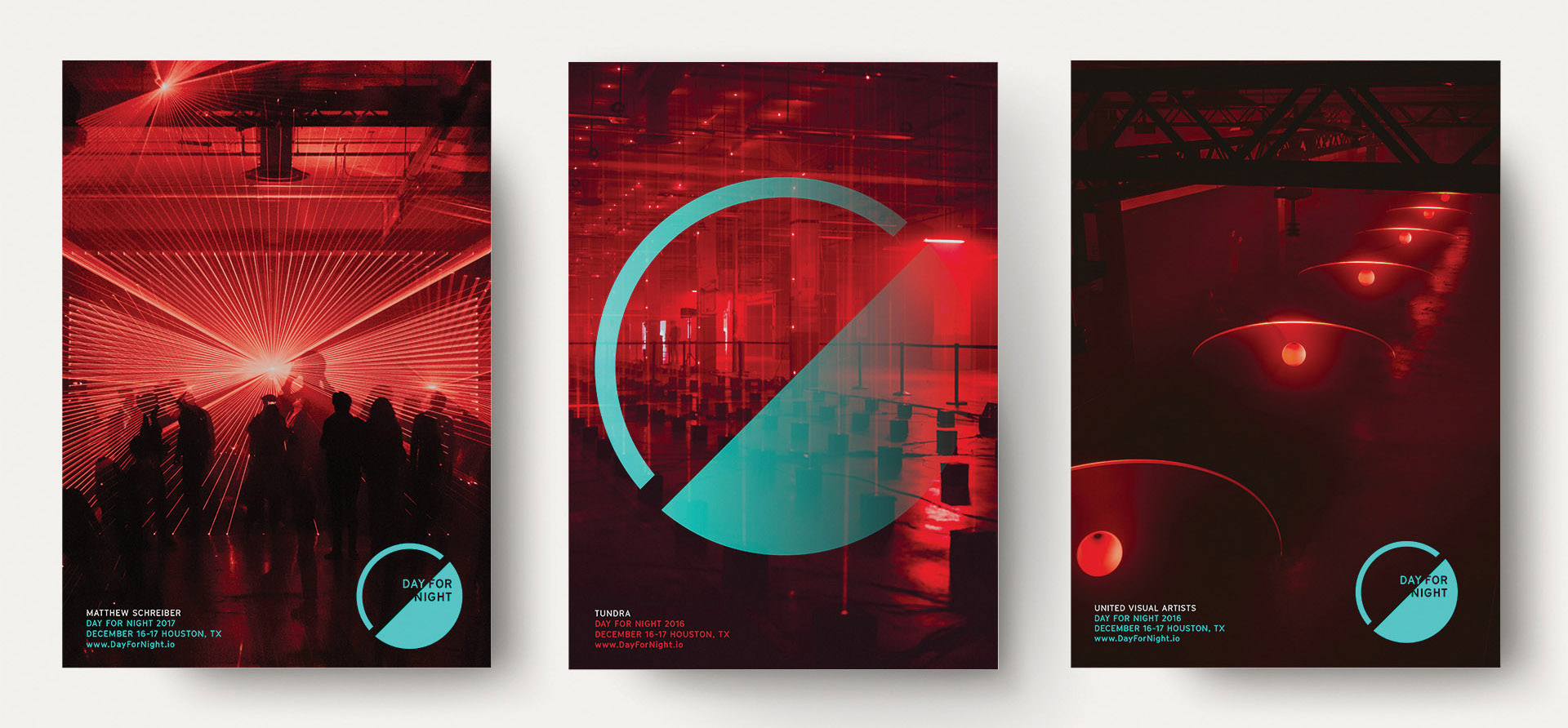 Day for Night Festival branding posters