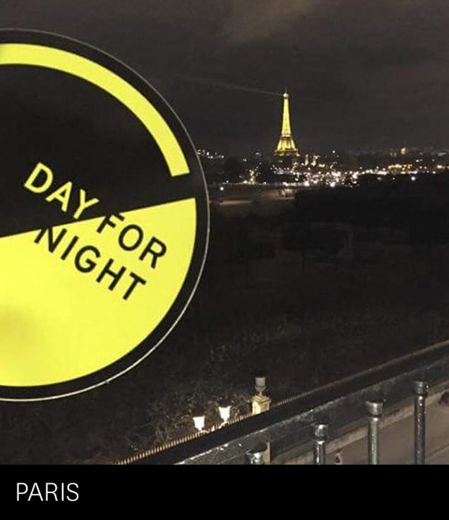 Day for Night Festival logo sticker Paris