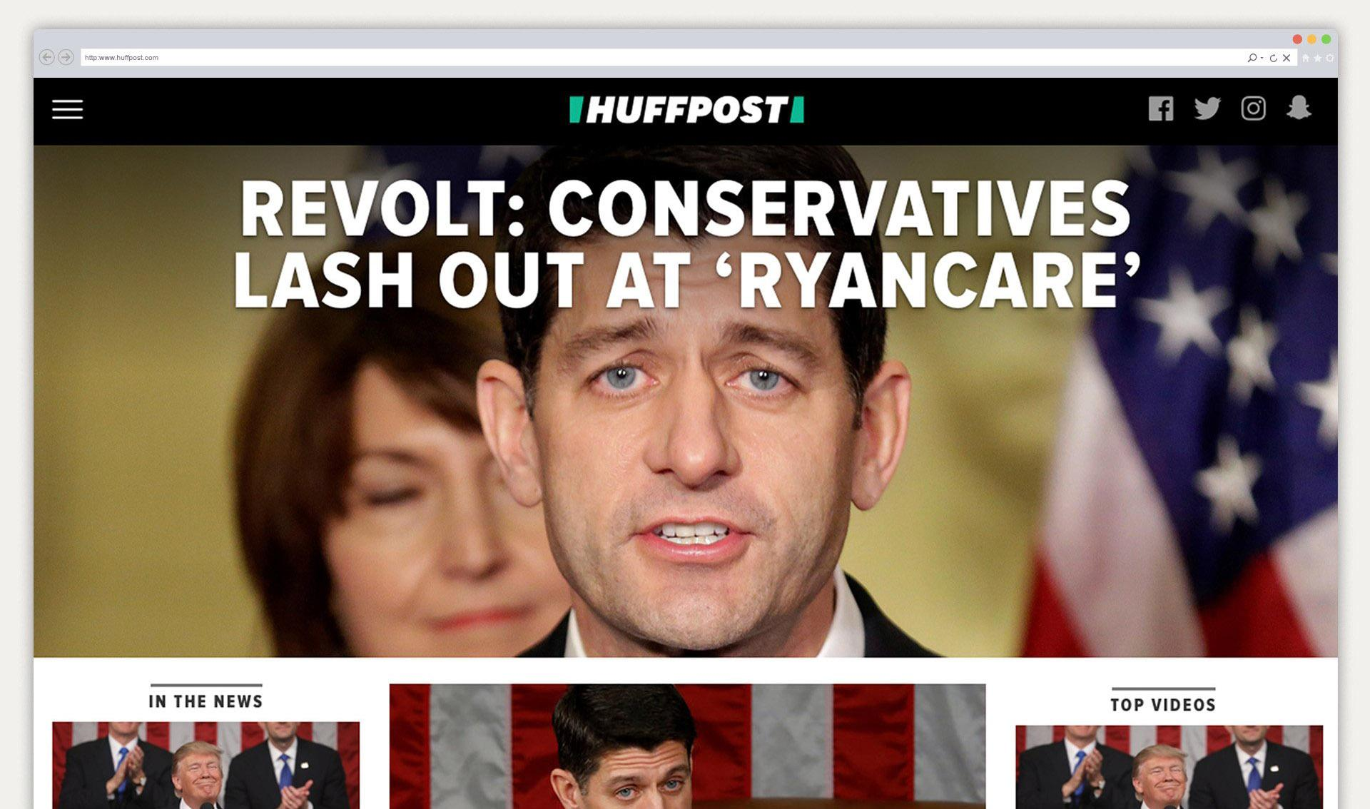 HuffPost website design