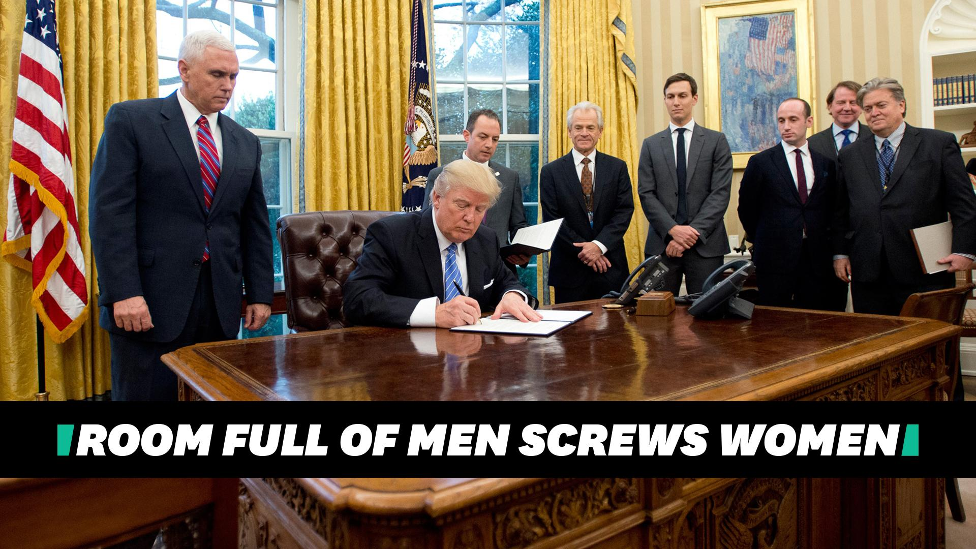 HuffPost logo Room Full of Men Screws Women