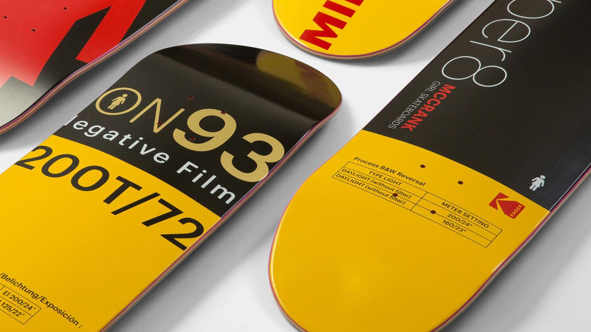 Kodak logo skateboard