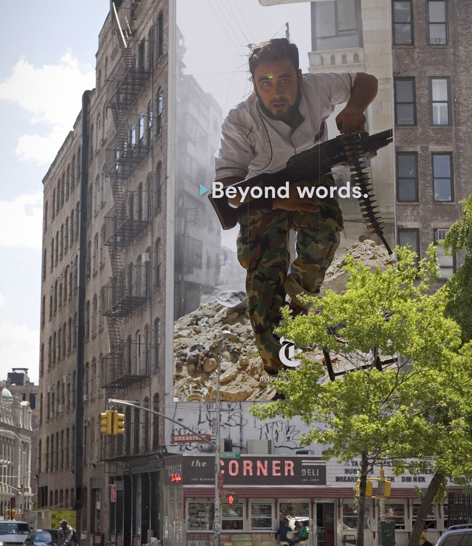 New York Times Beyond Words Campaign outdoor advertising