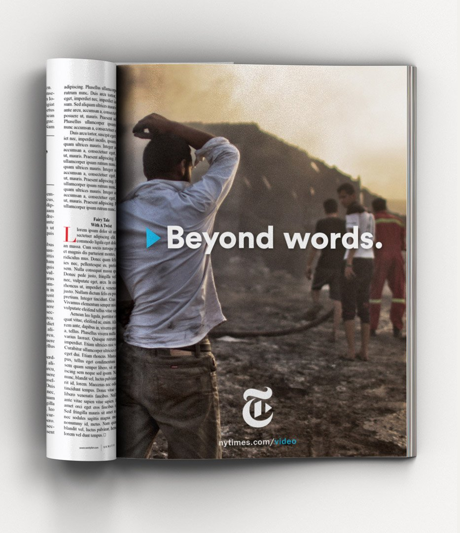 New York Times Beyond Words Campaign magazine ad