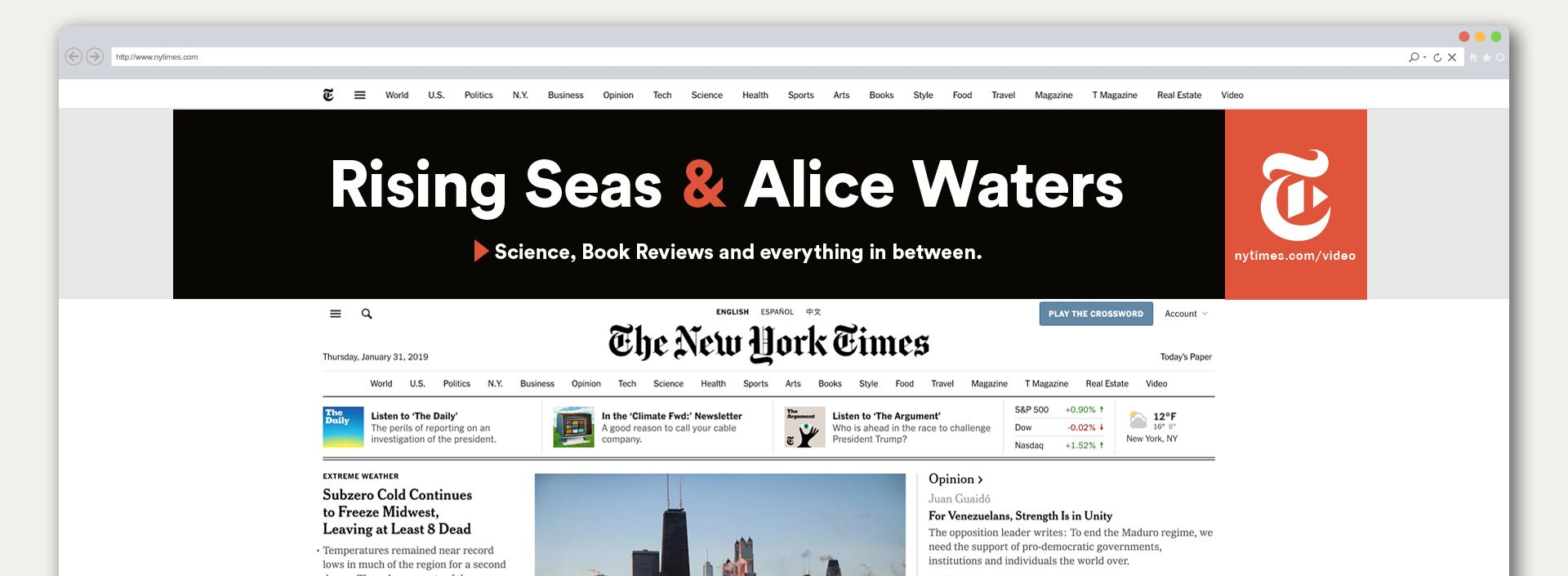 New York Times Campaign banner ad