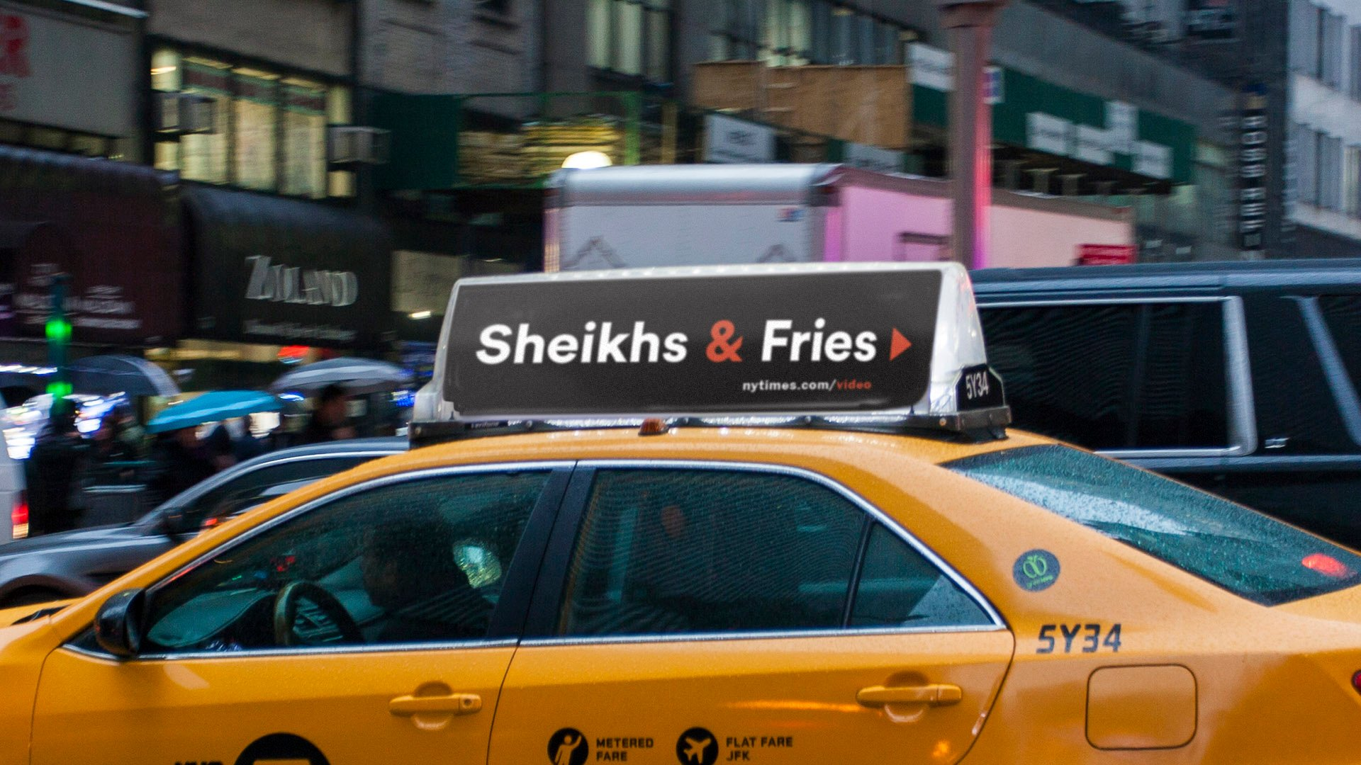 New York Times Campaign ad Sheiks & Fries