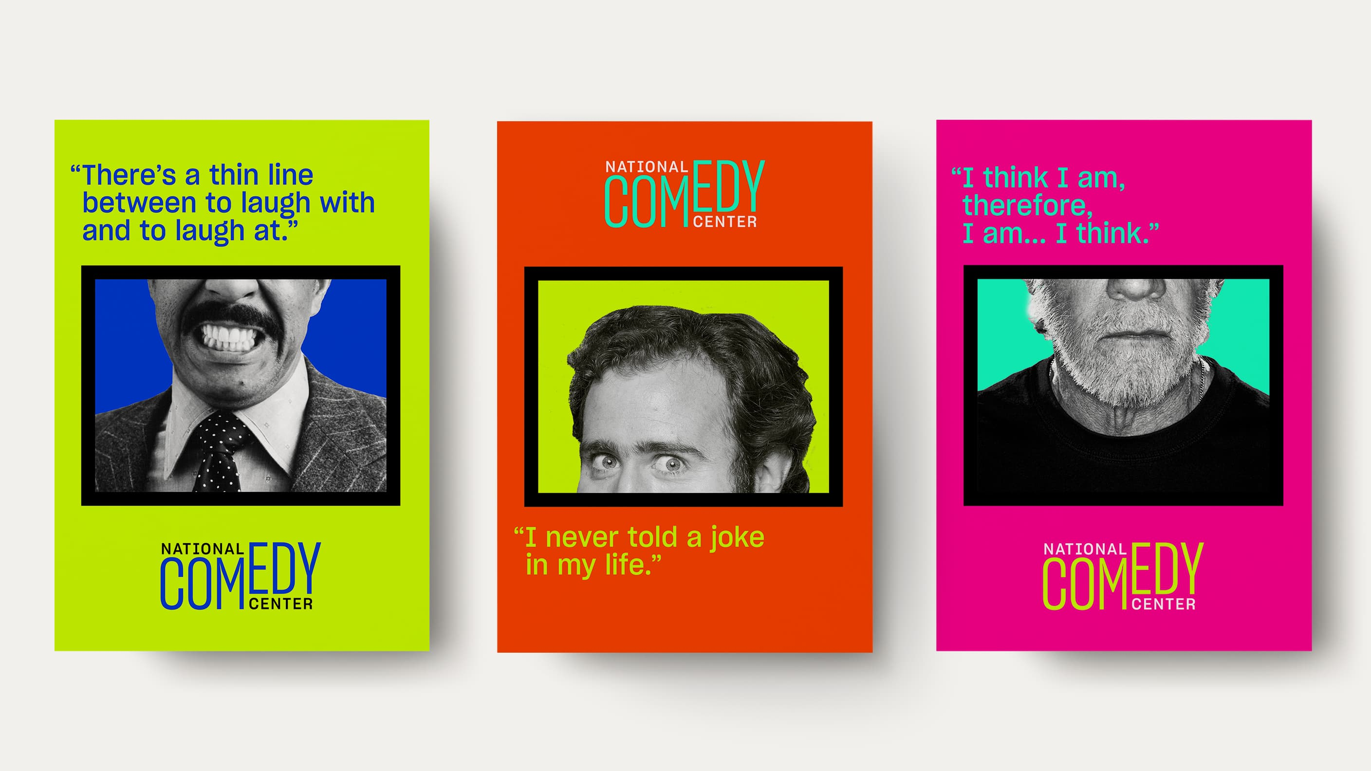 National Comedy Center posters